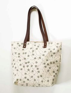 screen printed tote bag - Broken Arrows