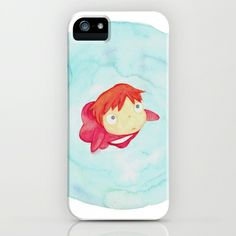 Ponyo+Watercolor+iPhone+%26+iPod+Case+by+Foreverwars+-+%2435.00