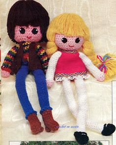 Amigurumi Vintage Doll Free Patern (Enlarge picture to Read)