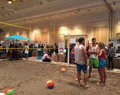 The beach volley ball section of #Pepcom @CES almost makes us forget how cold it is outside! #PiperCES2016