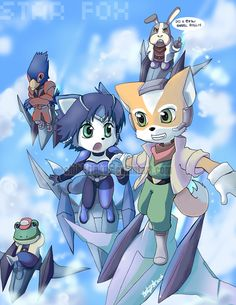 Star Fox by BettyKwong.deviantart.com    Love Star Fox! I haven't played the game but I've played the demo on Smash Bros. Brawl and I WANT THIS GAME!!!! I love the Chars I love old style Vid Games, awesome!