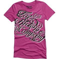 41628c308d2b6c Fox Racing Women is Reckless Crew Neck T-Shirt - Small Cupid