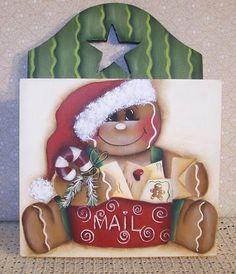 Gingerbread Christmas Mail holder Painting por Paintingonjars