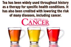 Use the polyphenols and bio-active plant compounds in tea to prevent cancer! Drink these 3 teas daily to lower your cancer risk: Green Tea, Dandelion Tea & Chaga Mushroom Tea. Article by Suresh Nair. Please re-pin to support us on our mission to educate, expose, and eradicate cancer! // The Truth About Cancer
