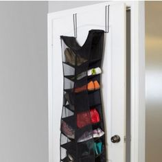 Is your black dress ready for Halloween? BLACK DRESS shoe organizer makes over-the-door shoe shelving look fashionable. DESIGN: Matt Carr // UMBRA (C) 2013 Shoe Storage Organiser, Locker Storage, Scarf Organization, Modern Store, Shops, Affordable Home Decor, Fashion Company, Getting Organized, Shoe Rack