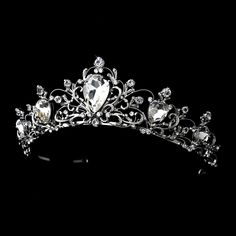 Vintage Inspired Silver Plated Wedding Tiara www.specialoccasionsforless.com