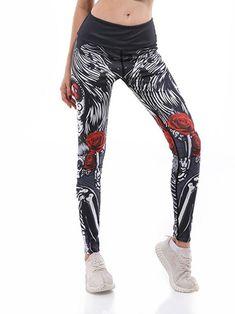 83c7d4b3b Polyester 3D Print Breathable Cartoon Female Summer Yoga Women Sports  Leggings