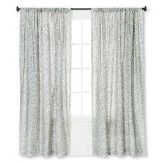 Metallic Curtain Panel Silver White Threshold