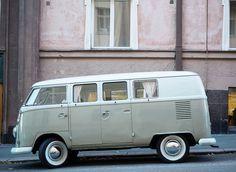 Helsinki, Matcha, Buses, Street View, Van, Beige, Wallet, Taupe, Pocket Wallet