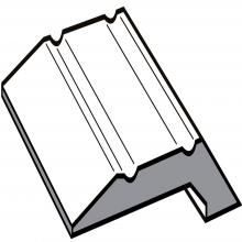Aluminium Stick Down Parquet Edge Silver 8mm 2.70m Length