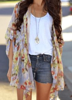 Kimono on  Summer Style Inspiration: Look Hotter Than It Is Outside • Page 5 of 5 • BoredBug