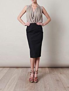 Freda pencil skirt