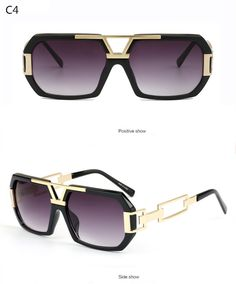 5ea368f56e8 Michelle Flat Top Men Glasses Frame Brand Designer Square Metal Gold Sunglasses  For Men Optical Mirror