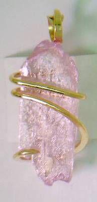 Raw kunzite crystal jewelry