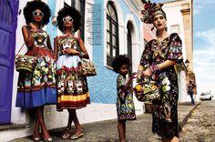 Mirte Maas in 'Carmen Miranda Reloaded' for Vogue Brazil February 2013