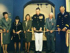 Chesty Puller Ribbons | Ribbon Cutting at the VMI Hall of Valor