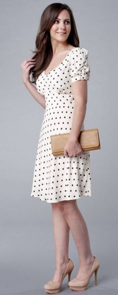 Be the Queen of the High Street… Britain's newest royal loves High Street fashion, so what should Kate (and you) try next? Polka dot dress from Marks & Spencer … Pretty Outfits, Pretty Dresses, Beautiful Dresses, Cute Outfits, Dot Dress, Dress Skirt, Dress Up, Casual Dresses, Fashion Dresses