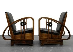 ON HOLD Pair of Antique French Art Deco Bentwood Lounge Chairs with Woven Leather Paar antike französische Art-Deco-Bentwood-Liegestühle mit Casa Art Deco, Art Deco Stil, Art Deco Home, Painting Wooden Furniture, Art Deco Furniture, Unique Furniture, Rustic Furniture, Outdoor Furniture, 1930s Furniture