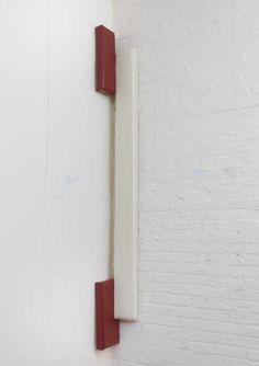 <b>Justin Adian</b> <i>Texarkana</i>, 2014 oil enamel on ester foam and canvas 91 x 15 x 2 1/2 inches (231.1 x 38.1 x 6.3 cm.)