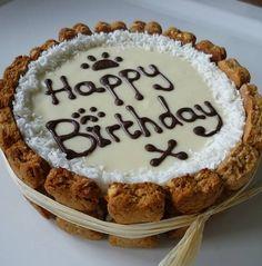 'Happy Birthday' Dog Cake