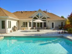 """No step entries from back yard pool area to Master bedroom ,Great room and Home office. """" Universal Design takes no back seat when it comes to style!"""" By Equalaccesschas"""