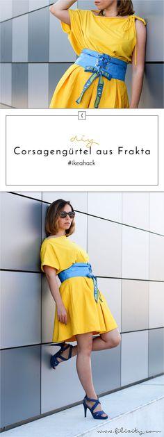 IKEA Hack: Corsagengürtel aus FRAKTA nähen - DIY Fashion