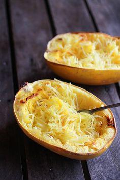 Roasted Garlic Spaghetti Squash Lasagna Boats | halfbakedharvest.com