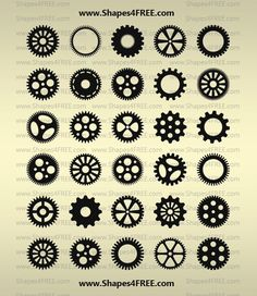90 Photoshop Gears Shapes - Preview 2
