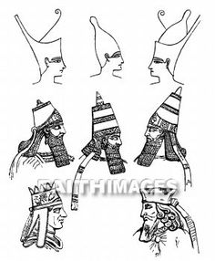 royal headdresses of ancient persia | Egyptian, Assyrian, Syrian, Persian crowns, headdress, and clothing.