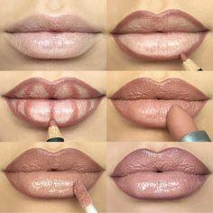 Чтобы правильно скорректировать форму губ, применяют карандаш. Им очерчивают контур, добавляют визуального объема, после чего наносят помаду