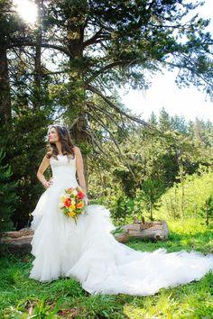 rustic romantic wedding bride