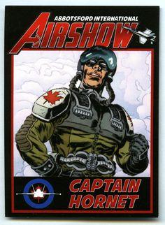 Captain Hornet Trading card - Abotsford Airshow