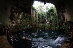 Ikkil Cenote, not far from Chicen Itza, Yucatan, MX