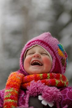 Winter Fun and Laughter. Happy Smile, Smile Face, Make You Smile, Happy Faces, Smiling Faces, I'm Happy, Happy Baby, Precious Children, Beautiful Children