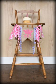 Princess Birthday Age Banner...Photo Prop...Nursery Decor...Burlap Banner...Smash Cake...1st Birthday on Etsy, $17.95