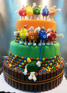 M & M Cake ~ I love this one... how cute is that