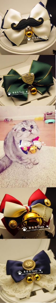DIY cat bow tie; cat collar with bell; Gift for your cat, dog Origin: CHINA