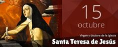 Fiesta de santa Teresa de Jesús, virgen y doctora de la Iglesia, que, nacida en Ávila, ciudad de España, y agregada a la Orden Carmelitana, llegó a ser madre y maestra de una observancia más estrecha, y en su corazón concibió un plan de crecimiento espiritual bajo la forma de una ascensión por grados del alma hacia Dios, pero a... Plans, Movie Posters, Saints, Shape, Being A Mom, Spiritual Growth, Female Doctor, Bass, City