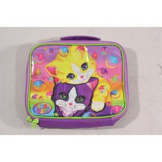 Lisa Frank Rainbow Glitter Kittens Bubbles Purse by NothingOnTV ($45) ❤ liked on Polyvore featuring bags, handbags, paul frank bags, man bag, handbags purses, glitter purse and bubble bags