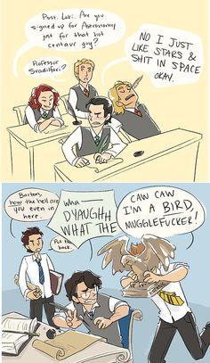 The Avengers at Hogwarts