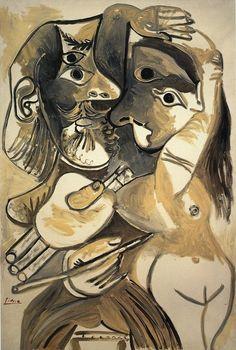 Pablo Picasso, 1969 Le peintre et son modèle 2 on ArtStack #pablo-picasso #art