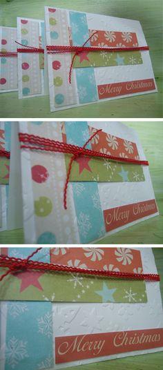 """""""Merry Christmas"""" Card :) Made by EstúdioDePapel :) https://www.etsy.com/pt/listing/207970729/cartao-de-natal-merry-christmas-colorido?ref=shop_home_active_1"""