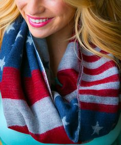 Look what I found on #zulily! Red & Blue Americana Infinity Scarf by White Plum #zulilyfinds