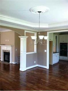Corner View from the Formal Dining into the Kitchen on 1 side & family room on the other