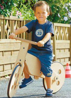 Laufen lernen leicht gemacht: Mit dem Laufrad aus Holz werden die Kleinen schneller laufen als gedacht. Wir zeigen, wie man es baut.