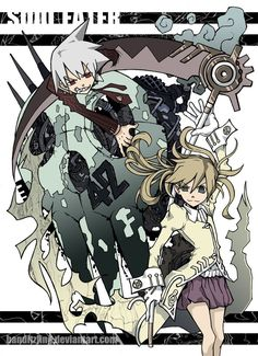 Maka, Soul, Skull by Banditzjing on DeviantArt Anime Soul, Soul Eater Manga, Manga Anime, Anime Art, Soul And Maka, Cute Couple Comics, Anime Tattoos, Character Design Animation, Anime Crossover