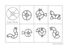 PEIXINHOS NO SOTÃO: Tangram Circular