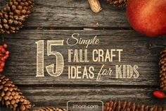 There are the crafty, and the crafty-nots. No matter which category you fall into, making something with your kids can be a great way to spend family time. So for the craft-doer and the craft-don'ters, we have 15 Simple Fall Craft Ideas for Kids. #fall #crafts #family