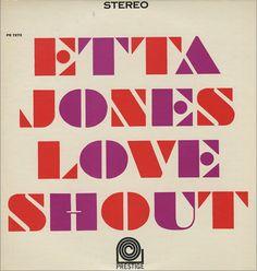 Etta Jones. Nice Type. Nice Color.