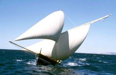 Boat sailing near the island of Palagruža (sailing ship is a symbol comonly used by Croatians to denote Croatia)